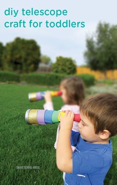 """Enjoy a fun and easy craft with your toddlers. These """"find the pot of gold"""" DIY telescopes are great for scavenger hunts or playing pretend, and they can easily be customized to your little ones' favorite colors!"""
