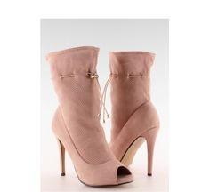 Open Toe, Heels, Boots, Pink, Fashion, Self, Heel, Crotch Boots, Moda