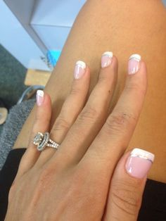 Wedding nails; silver underline, gold or a pretty blue would look nice too #Weddingnail                                                                                                                                                     More