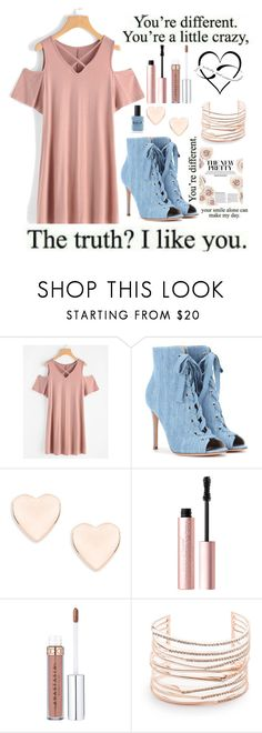 """""""My style"""" by keren300 ❤ liked on Polyvore featuring Gianvito Rossi, Ted Baker, Too Faced Cosmetics, Alexis Bittar and Lauren B. Beauty"""