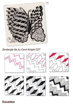 Zentangle Steps | Zentangle step by step / .