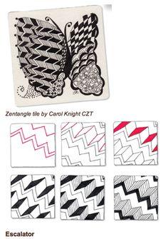Zentangle Steps | Zentangle step by step / .