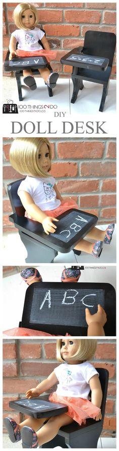 "DIY American Girl desk, 18"" doll desk, doll furniture"