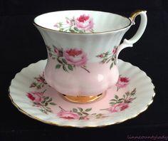 Royal Albert Bone China Bridesmaid Cup & Saucer Pink Roses Montrose Fluted FR SH #RoyalAlbert