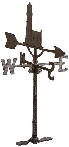 Montague Metal Products 32-Inch Weathervane with Satin Black Fireman Ornament