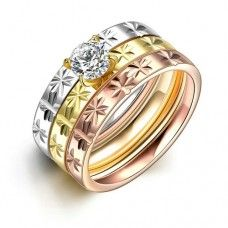 Ring Jewelry Hot Sale Texture in Japan and Korea 3 in 1 TGR033-A