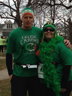 St Patty's Day race #poweredbybling #running