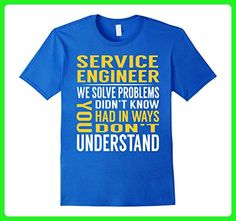 Mens Service Engineer Solve Problems TShirt 3XL Royal Blue - Careers professions shirts (*Amazon Partner-Link)