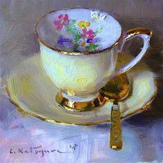"Daily+Paintworks+-+""Lemon+Yellow""+-+Original+Fine+Art+for+Sale+-+©+Elena+Katsyura"