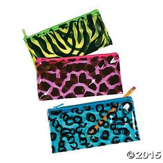 Animal Print Pencil Cases