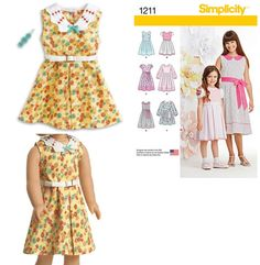AGD Kit Dress Simplicity Pattern to modify and make for girls