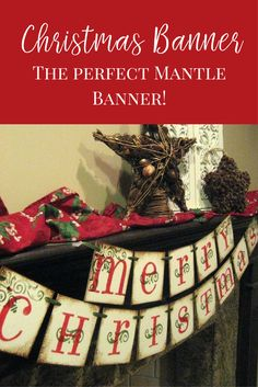 Add Christmas charm to your mantle with this perfect Christmas Banner. Your home would look complete with this Christmas Decor. #afflink