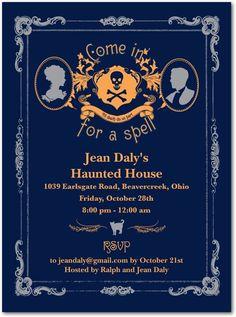 Halloween party invitations, Haunted Victorian