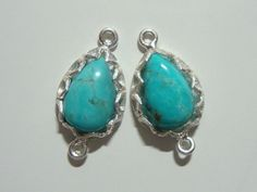 Handmade Blue Turquoise 925 sterling silver lotus by TerraFinds