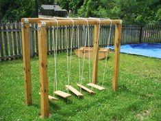 natural playground swinging bridge                                                                                                                                                                                 More