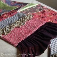Table runner in multi fabric by Beyond the screen door