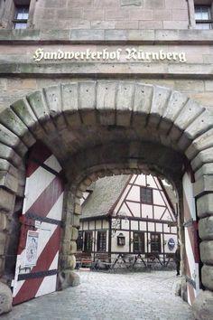 handwerkerhof Nuremberg Nürnberg Alemania Deutschland Germany