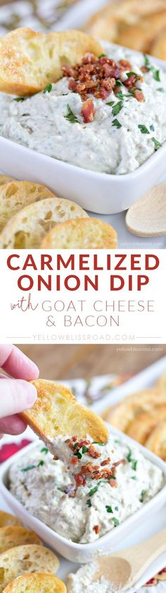 carmelized onion bacon and goat cheese dip carmelized onion dip with ...