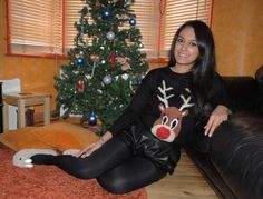 Entries #Christmas #Jumper Best Christmas Jumpers, Christmas Jumper Day, Christmas Fun, Christmas Sweaters, How To Raise Money, Charity, Leather Pants, Seasons, Fashion