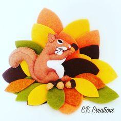 scoiattolino in pannolenci #scoiattolo #esquilo #felt #crcreations #handmade #madeinitaly