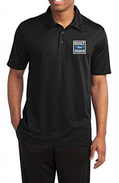 acbd7bb3 Amazon.com: Buy Cool Shirts Mens Built Ford Tough Textured Polo Shirt:  Clothing