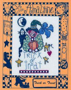 Schematic cross stitch witch 1