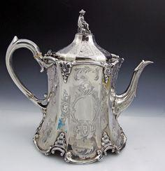English silver antique teapot