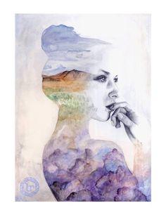 De mujeres, colores y flores: las ilustraciones de Naranjalidad