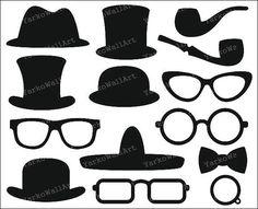 Sombrero Clip Art gafas monóculo pajarita hombrecillo