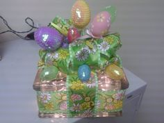 colorful easter light glass block