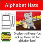 What better way to learn the alphabet than with hats from Simply Kinder?  $     This product is available in my Simply Kinder Alphabet Bundle  whic...