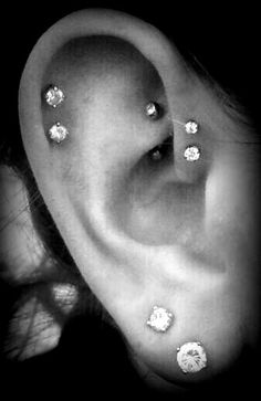I think I'll have all of these piercings, and possibly another helix, and then I'll be done. Then I'll focus on tattoos!