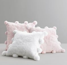 Luxe Faux Fur Pom-Pom Pillow Cover & Insert