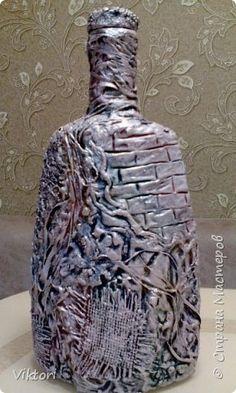 Декор предметов Бутылищи Бутылки стеклянные Материал природный фото 13