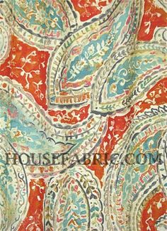 """Bright & Lively Nectar -  Kelly Ripa Home upholstery fabric or drapery fabric. Content; 100% Cotton . Repeat; 27"""" V x 13.5"""" H . Double rubs; 39,000. Width; 54"""""""