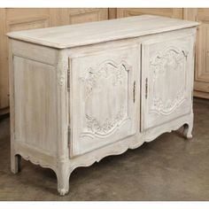 Vintage Country French Painted Buffet | Antique Furniture | #Antique #Furniture