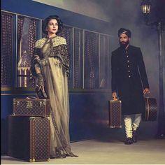 Aishwariya rai#sabyasachi collection# collabration vid louis vuitton