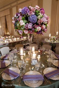 Love, love , love Franci and Michael's wedding decor! All the violet tones are so beautiful!⠀ .⠀ Photography: @bobanddawndavis⠀ #bobanddawndavisphotography⠀ . Venue: @standardclubchicago Planner: @marcyglink @greateventschicago ⠀ Event Designer: @kehoedesigns @vjhart⠀