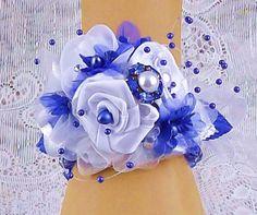 Royal Blue/White CorsageWhite & Blue Prom by RITZYGLITZYJEWELRY
