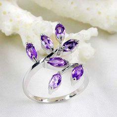 Sterling Silver Amethyst Ring <3