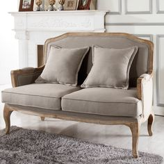 Baxton Studio Constanza Classic Antiqued French Loveseat - Overstock™ Shopping - Great Deals on Baxton Studio Sofas & Loveseats