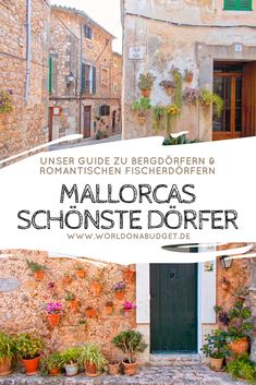 These 5 wonderful villages in Mallorca are waiting for your visit - Guide to the most beautiful villages of Discover in this dreamy fishing vi - Europe Destinations, Spain Travel, Asia Travel, Koh Lanta Thailand, Les Continents, Reisen In Europa, Beaux Villages, Balearic Islands, Fishing Villages