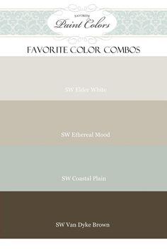 Favorite Paint Colors: Elder White, Ethereal Mood, Coastal Plain, Van Dyke Brown (Sherwin Williams)
