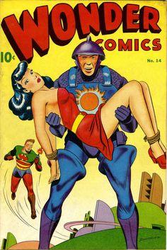 Comic Book Cover For Wonder Comics - Version 1 Rare Comic Books, Comic Book Plus, Comic Book Covers, Comic Books Art, Book Art, Sci Fi Comics, Bd Comics, Vintage Comics, Vintage Books