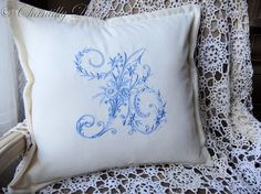Handmade+Custom+Embroidered+Victorian+Monogram+by+ChantillyDreams,+$68.00