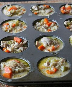 Kitchen tip: freeze soup in muffin tin, then pop out and put in a freezer bag. Take out individual servings as needed.