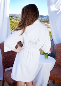 Personalized Gift for Brides Bridesmaid Gift Maid of by ArenLace, $35.00 This is great etsy store, prices, size ranges, colors and personalization choices are great. Even for moms of bride and groom etc.  definitely going to order from here, closer to wedding. Would be nice for spa day before wedding.