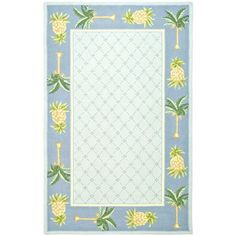 Chelsea Light Blue and Blue Rectangle: 8 Ft. 9 In. x 11 Ft. 9 In. Area Rug - (In Rectangular)