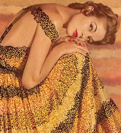 Jean Patchett in yellow. <3