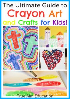The Ultimate Guide to Crayon Art and Crafts!  Tons of art ideas for kids!